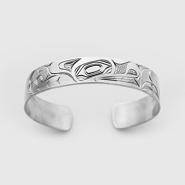 Silver Wolf Bracelet by David Neel