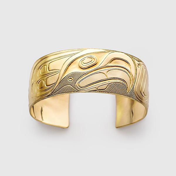Gold Eagle Bracelet by Native Artist Walter Davidson