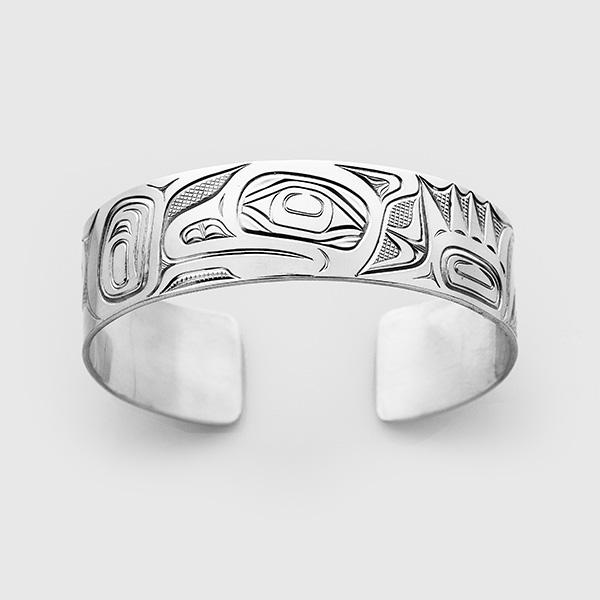 Silver Otter Bracelet by Native Artist David Neel