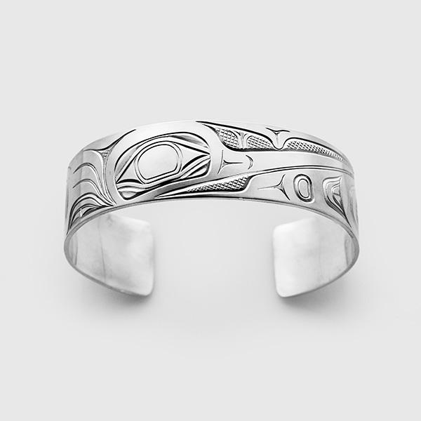 Silver Hummingbird Bracelet by Native Artist David Neel