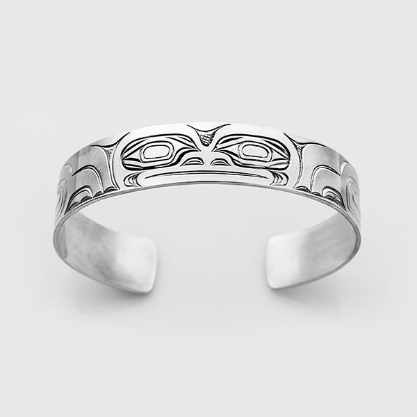 Silver Frog Bracelet by Native Artist David Neel