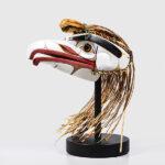 White Raven Mask by Northwest Coast Native Artist Sesyaz Saunders