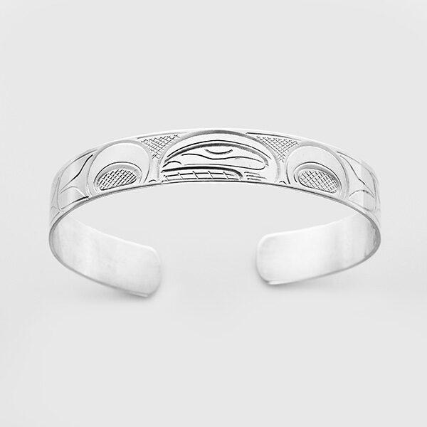 Silver Killerwhale Bracelet by Native Artist John Lancaster