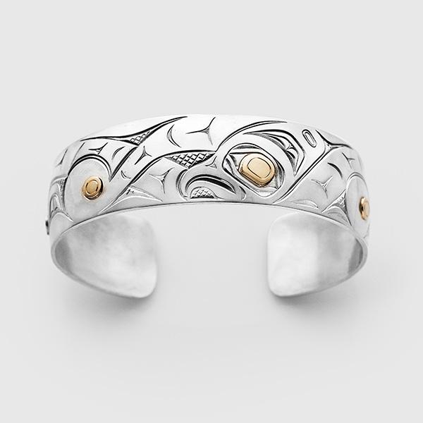 Silver & Gold Octopus Bracelet by Native Artist David Neel