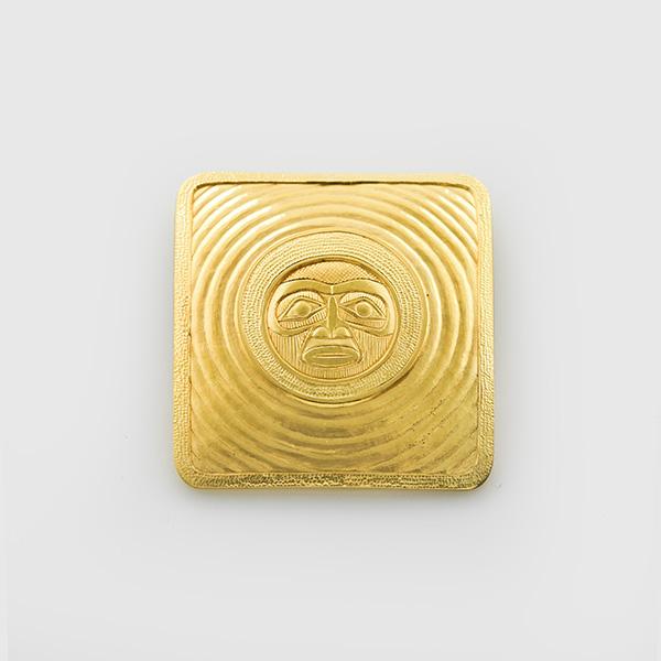 Gold Moon Pendant by Native artist Lyle Wilson