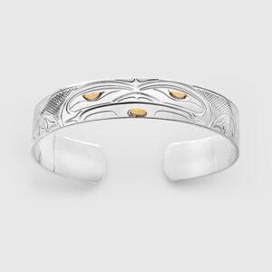 Silver and Gold Frog Bracelet by Native Artist John Lancaster