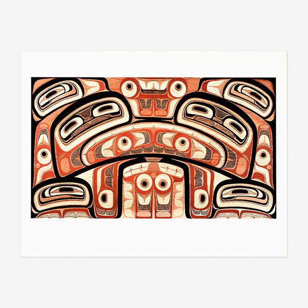 Whale Eater Print by Northwest Coast Native Artist Gwaai Edenshaw