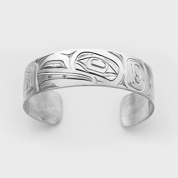 Silver Raven Bracelet by Native Artist David Neel