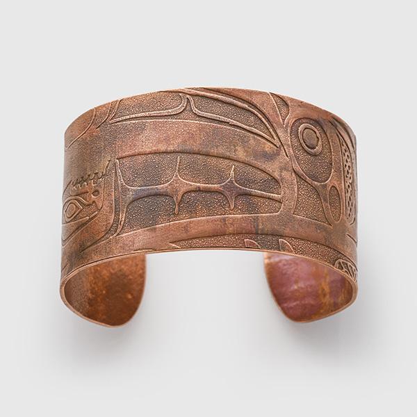 Copper Naxxiin Bracelet by Native Artist Gwaai Edenshaw