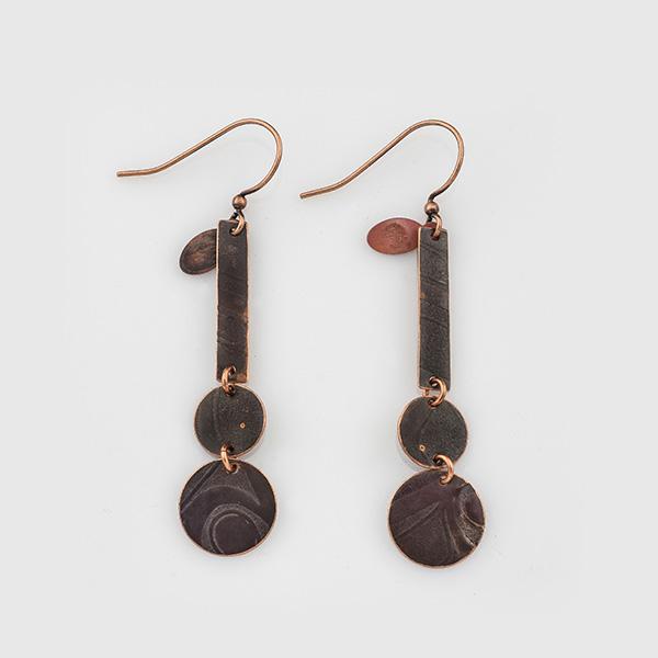 Copper Slats Earrings by Gwaai Edenshaw