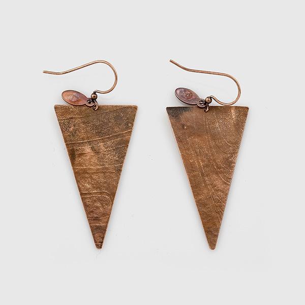 Copper Arrowhead Earrings by Gwaai Edenshaw