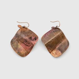 Copper Flasher Earrings by Gwaai Edenshaw