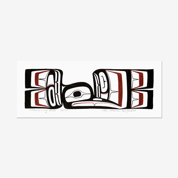 Original Hummingbird Painting by Northwest Coast Native Artist Ben Houstie