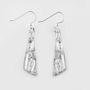 Silver Eagle Earrings by Native Artist Ivan Thomas