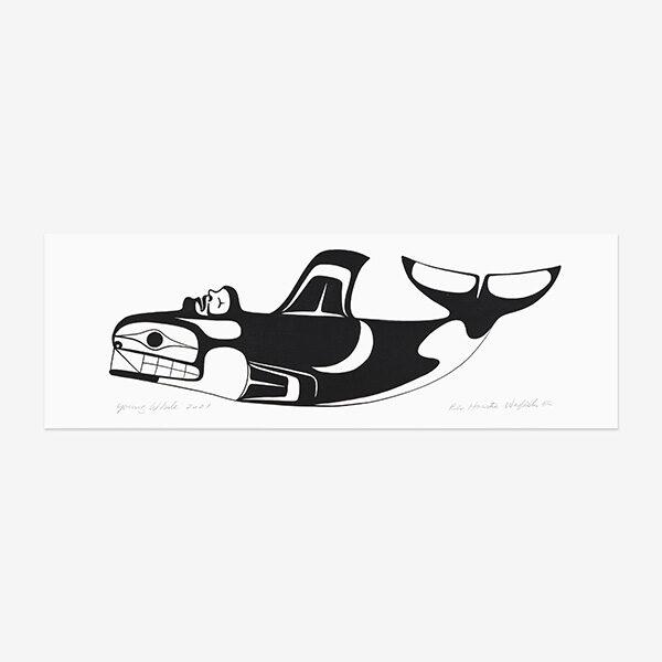 Acrylic Whale Painting by Northwest Coast Native Artist Ben Houstie