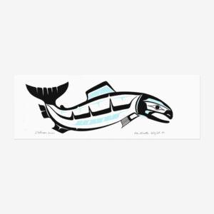 Acrylic Salmon Painting by Northwest Coast Native Artist Ben Houstie