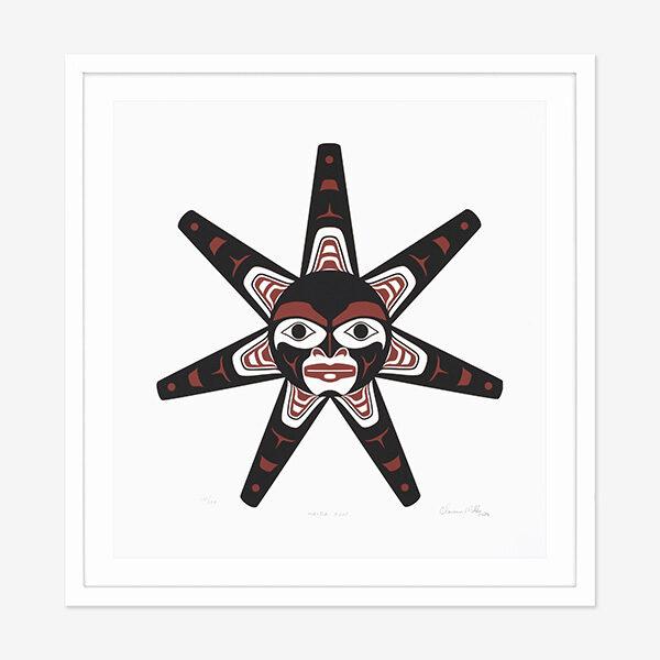 Haida Sun Print by Northwest Coast Native Artist Clarence Mills