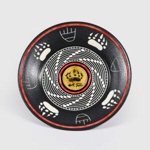 Porcelain Bear Paw Plate by Northwest Coast Native Artist Patrick Leach