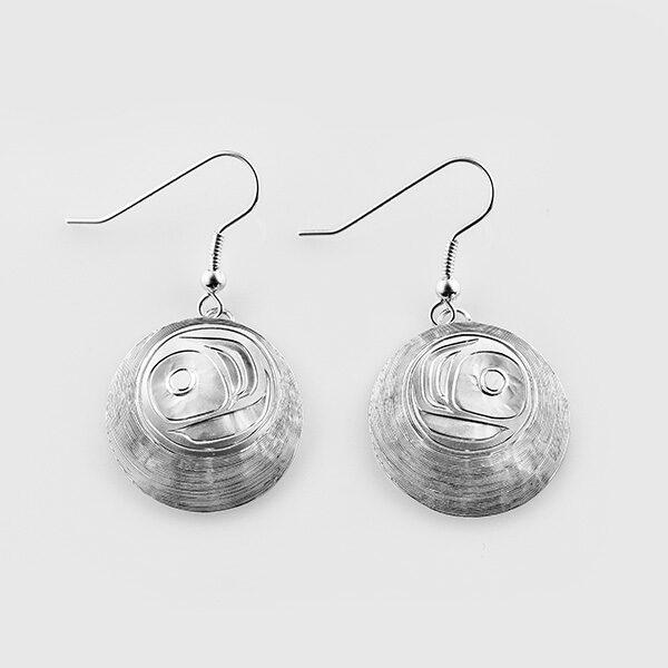 Silver Salmon Egg Earrings by Native Artist Landon Gunn