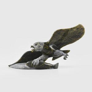 Stone Eagle Sculpture by Inuit Artist Pitseolak Qimirpik