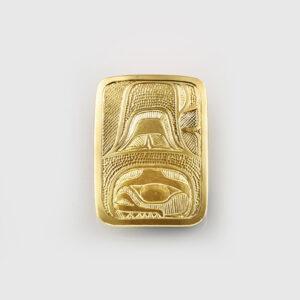 Gold Killerwhale Pendant by Native Artist Lyle Wilson