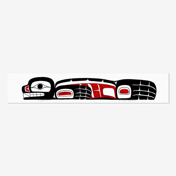 Original Baby Seal Painting by Northwest Coast Native Artist Ben Houstie