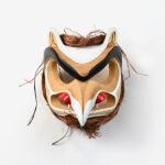 Woos and Cedar Bark Eagle Mask by Northwest Coast Native Artist Robert Saunders