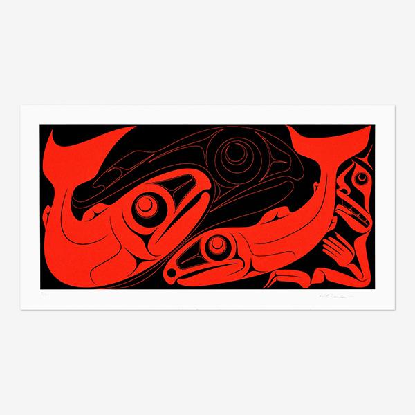 Salmon Print by Northwest Native Artist Robert Davison