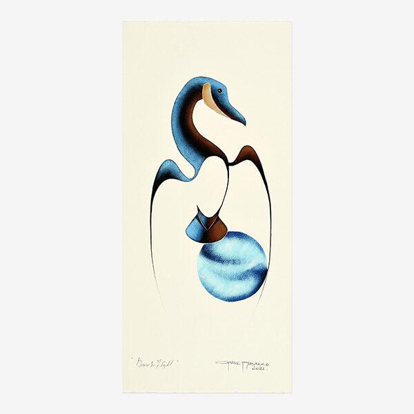 Original Canada Goose Painting by Plains Cree Native Artist Garnet Tobacco