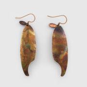 Copper Feather Earrings by Native Artist Gwaai Edenshaw