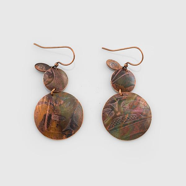 Copper Earrings by Native Artist Gwaai Edenshaw