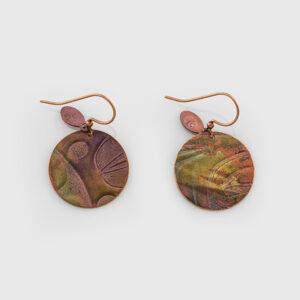 Copper Salmon Egg Earrings by Native Artist Gwaai Edenshaw