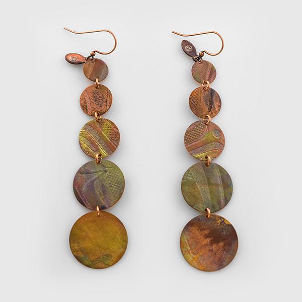 Copper Cascade Earrings by Native Artist Gwaai Edenshaw