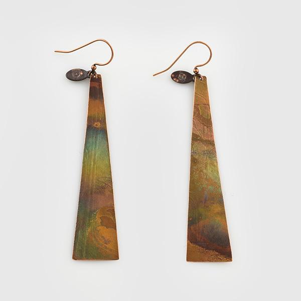 Copper Sinx Earrings by Native Artist Gwaai Edenshaw