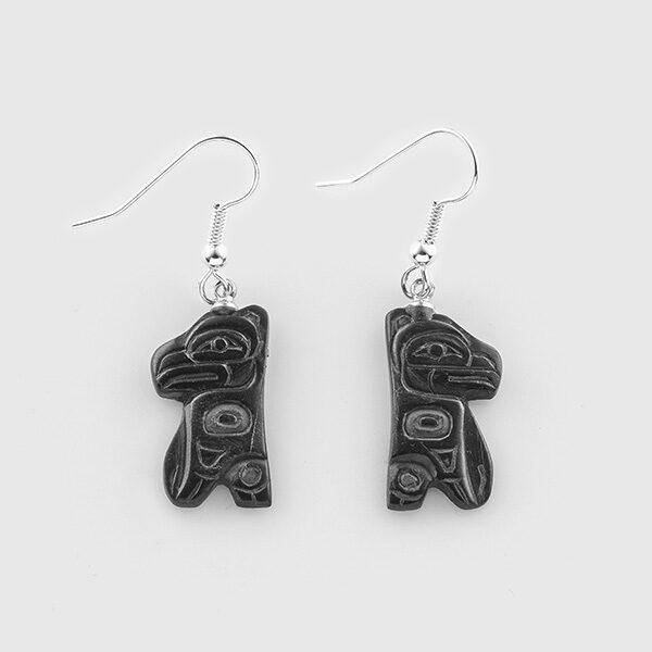 Argillite Eagle Earrings by Native Artist Gryn White