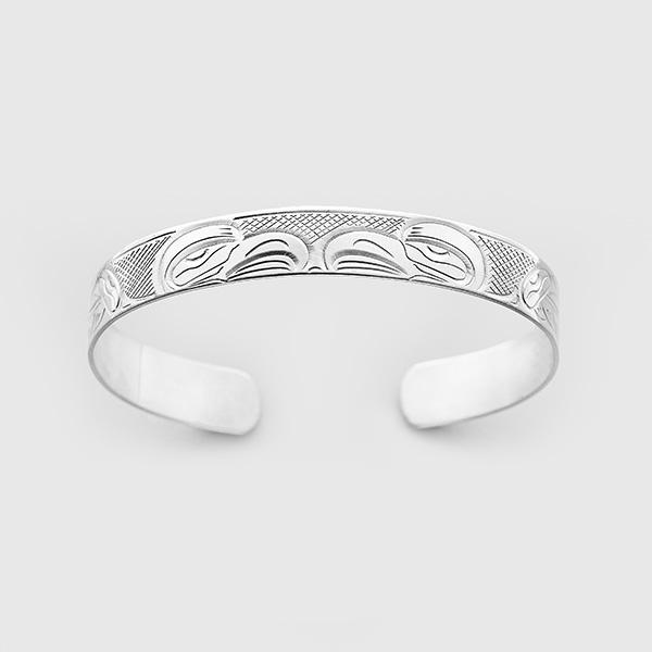 Silver Eagle Bracelet by Native Artist John Lancaster