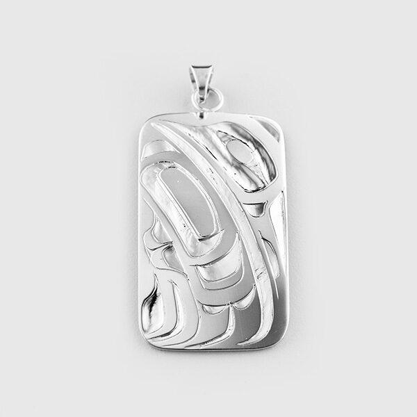 Silver Hummingbird Pendant by Native Artist Alvin Adkins