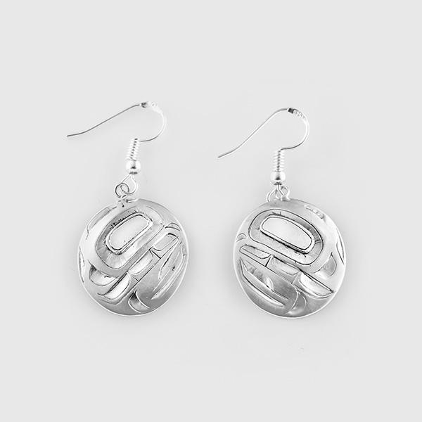 Silver Bear Earrings by Native Artist Alvin Adkins