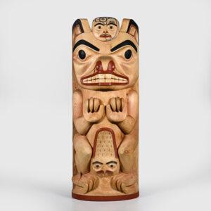 Wood Beaver Sculpture by Northwest Coast Native Artist Henry Green