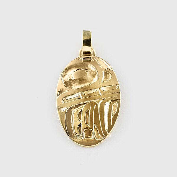 Gold Bear Pendant by Native Artist Alvin Adkins