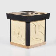 Wood Raven Box by Northwest Coast Native Artist Trevor Angus