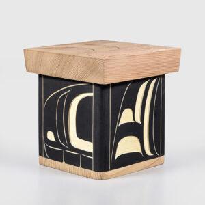 Wood Killerwhale Box by Northwest Coast Native Artist Trevor Angus