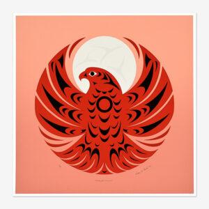 Scarlet Falcon Print by Northwest Coast Native Artist Susan Point