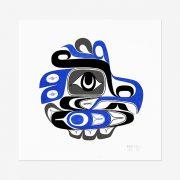 Original Eagle Painting by Northwest Coast Native Artist Adonis David