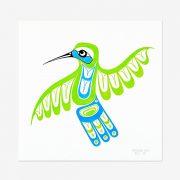 Original Hummingbird Painting by Northwest Coast Native Artist Adonis David