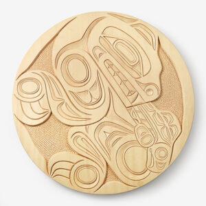 Wood Bear & Salmon Panel by Northwest Coast Native Artist Jim Charlie