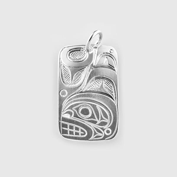 Silver Killerwhale Pendant by Native Artist Don Lancaster