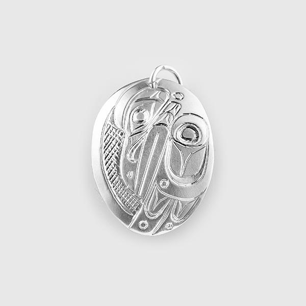 Silver Raven Pendant by Native Artist Don Lancaster