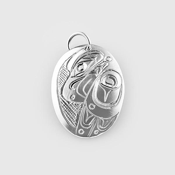 Silver Eagle Pendant by Native Artist Don Lancaster