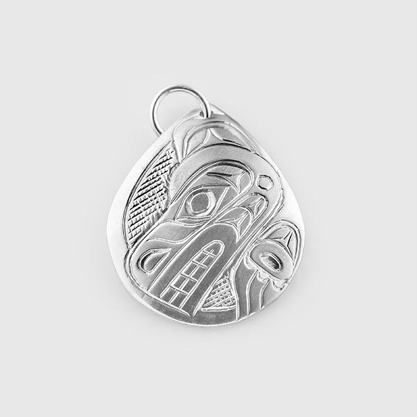 Silver Bear Pendant by Native Artist Don Lancaster